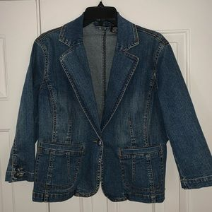 EUC A.N.A Jean Jacket Size L.
